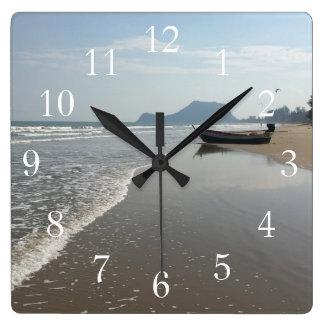 Beach Boat Clock