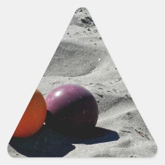 Beach Bocce Triangle Sticker
