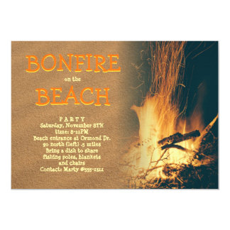 Beach Bonfire Party Celebration 13 Cm X 18 Cm Invitation Card