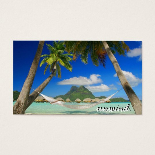 beach bora unwind business card