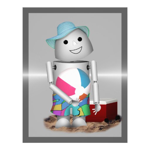 Beach Bound Robo-x9 Full Metal Background Personalized Flyer