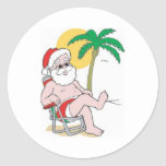 Beach Bound Santa Sticker