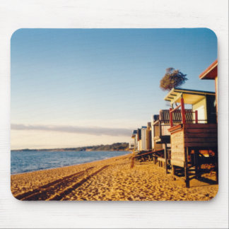 Beach Boxes Photo Mouse Pad