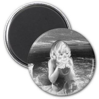 Beach Boy 6 Cm Round Magnet