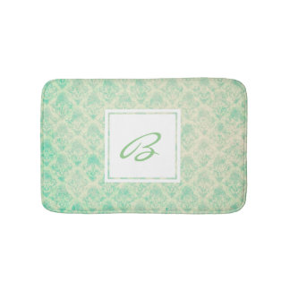 Beach Breeze Pattern with Custom Monogram Bath Mat