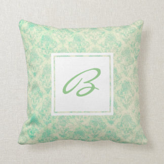Beach Breeze Pattern with Custom Monogram Cushion