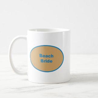 Beach Bride Blue Circular Design Coffee Mug