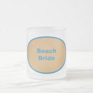 Beach Bride Blue Circular Design Mug