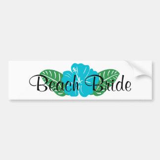 Beach Bride Bumper Sticker