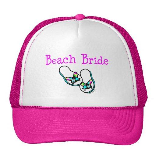 Beach Bride Mesh Hat