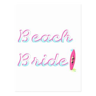 Beach Bride Postcard
