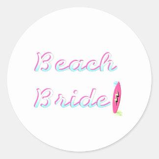 Beach Bride Round Sticker