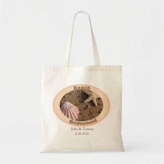 Beach Bridesmaid Starfish and Sea Shell Design Tote Bag