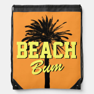 Beach bum bag | palm tree drawstring backpack
