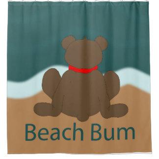 Beach Bum Bear Shower Curtain