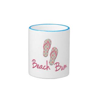 Beach bum flip flop design coffee mug