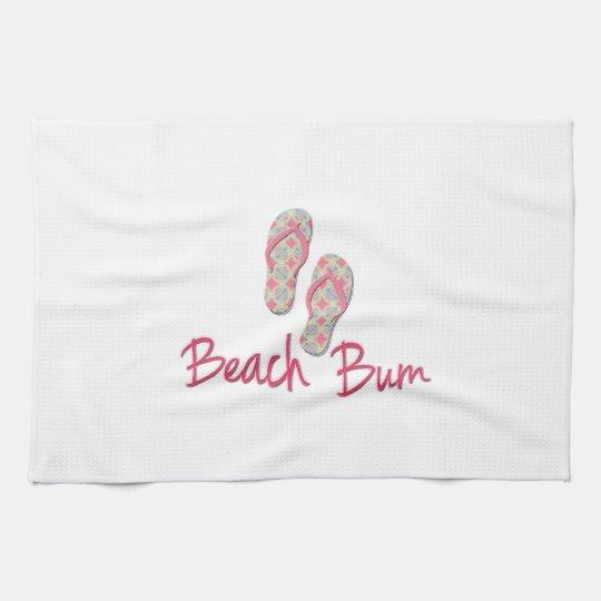 Beach bum flip flop design! tea towel