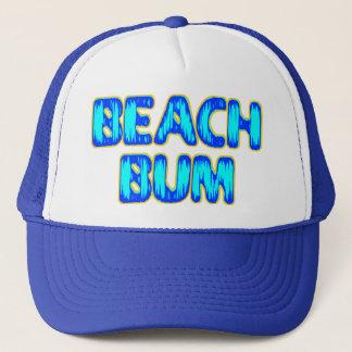 Beach Bum Funny Slogan in Blue Trucker Hat