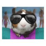 Beach bum guinea pig personalized invite