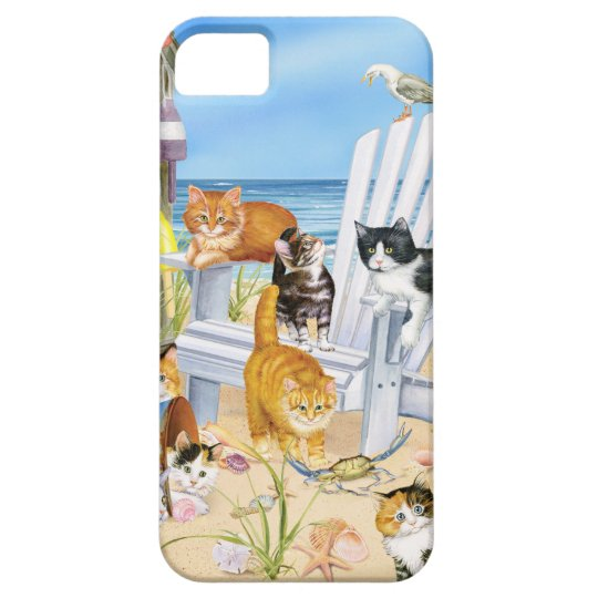 Beach Bum Kittens iPhone SE and iPhone 5/5s