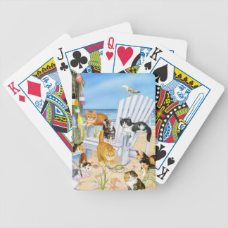 Beach Bum Kittens Playing Cards