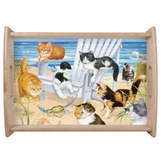 Beach Bum Kittens Serving Tray