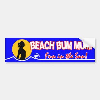 Beach Bum Naturist / Nudist Bumper Sticker