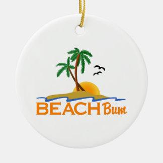 Beach Bum Round Ceramic Decoration