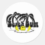 Beach Bum Round Sticker