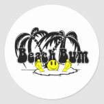 Beach Bum Round Stickers