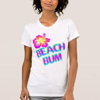 Beach Bum Saying Plumeria Flower Tee Shirts