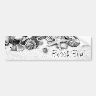 Beach Bum Shells & Starfish Bumper Sticker