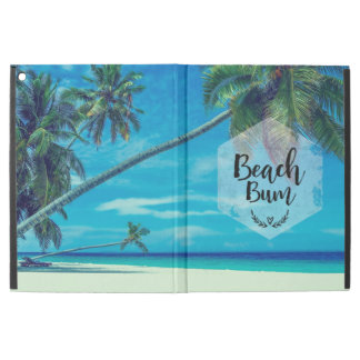 """Beach Bum Typography With Tropical Palm Trees iPad Pro 12.9"""" Case"""