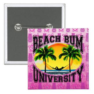 Beach Bum University 15 Cm Square Badge