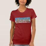 """""""Beach Bunnies"""" Rabbits at the Beach Ladies' T Shirt"""