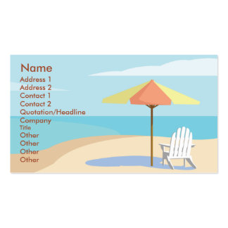 Beach - Business Pack Of Standard Business Cards