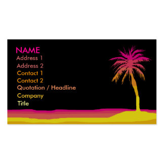 Beach Business / Profile Card Business Card Templates