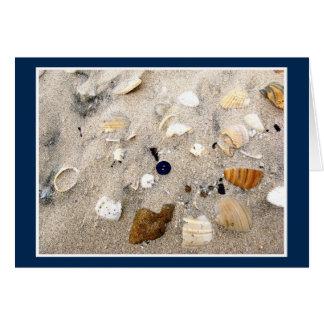 Beach Button Card