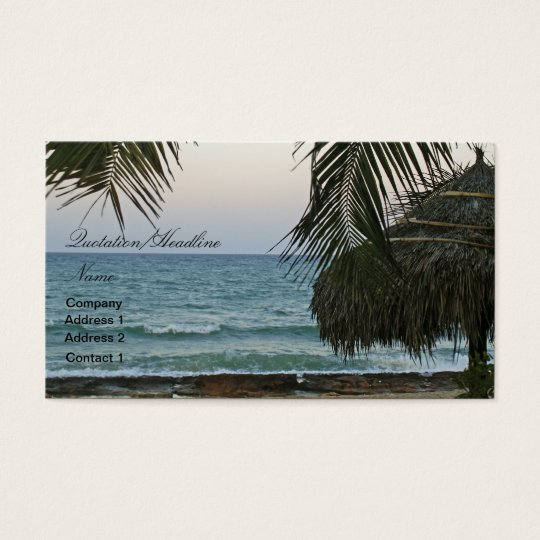 Beach Cabana Business Card