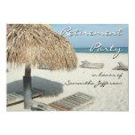 Beach Cabana Scene Retirement Party Invitations 13 Cm X 18 Cm Invitation Card