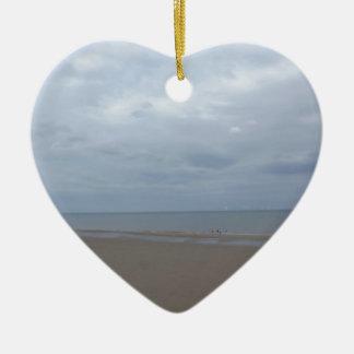 Beach Ceramic Heart Decoration