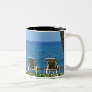 Beach Chair 3 Two-Tone Coffee Mug