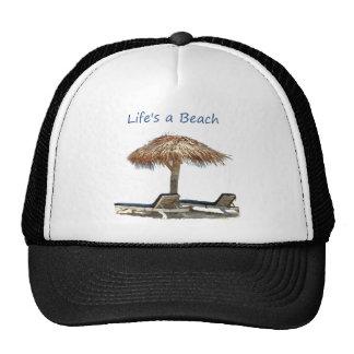 Beach Chair and Umbrella Mesh Hats