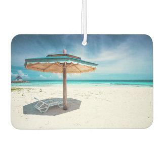 Beach Chair And Umbrella | Silver Sands Beach Car Air Freshener