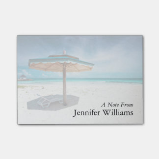 Beach Chair And Umbrella | Silver Sands Beach Post-it® Notes