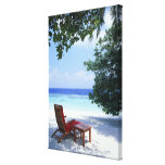 Beach Chair Gallery Wrapped Canvas