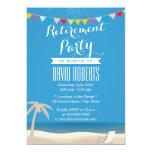 Beach Chair & Palm Tree Retirement Party 13 Cm X 18 Cm Invitation Card