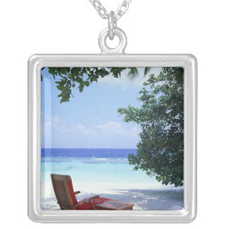 Beach Chair Silver Plated Necklace