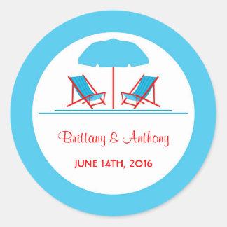 Beach Chair Wedding Sticker