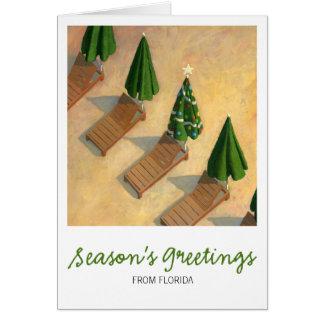 Beach Chairs Christmas card